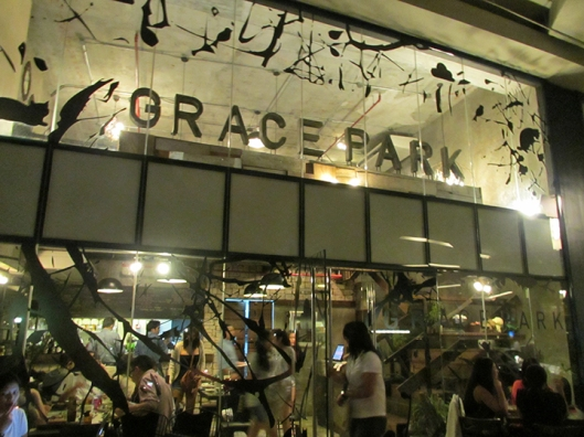 Grace Park, named after the family compound in Caloocan City, is located at One Rockwell, Makati