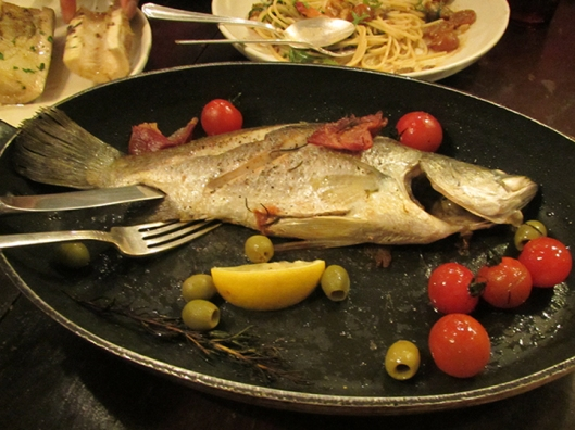 Roasted Apahap (Philippine Sea Bass), the fresh catch of the day